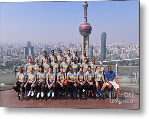 Event Metal Print featuring the photograph 2017 Nba Global Games - China by Noah Graham