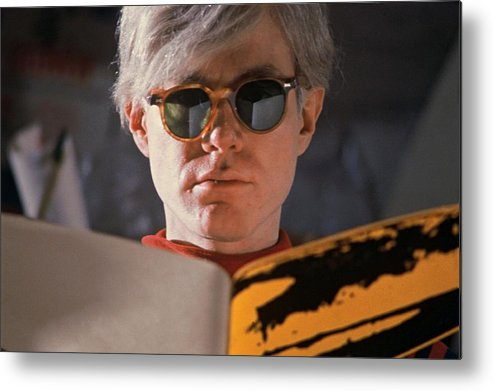 Andy Warhol Metal Print featuring the photograph Andy Warhol In New York, United States by Herve Gloaguen