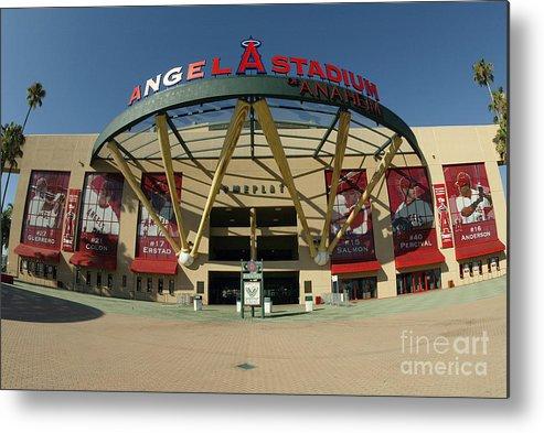 American League Baseball Metal Print featuring the photograph Angel Stadium Of Anaheim by Doug Benc