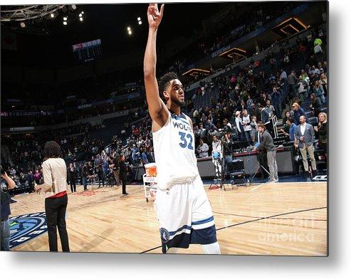 Nba Pro Basketball Metal Print featuring the photograph Atlanta Hawks V Minnesota Timberwolves by David Sherman