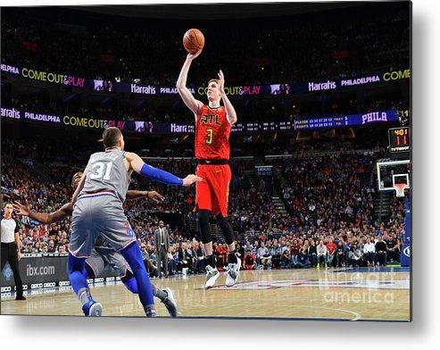 Nba Pro Basketball Metal Print featuring the photograph Atlanta Hawks V Philadelphia 76ers by Jesse D. Garrabrant