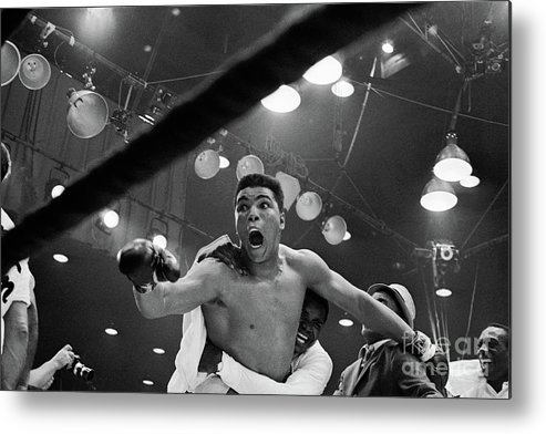 People Metal Print featuring the photograph Cassius Clay After Winning Championship by Bettmann