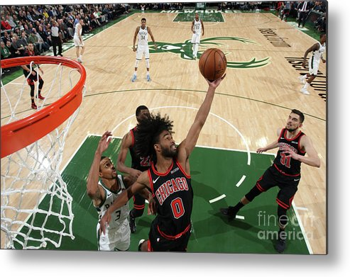 Coby White Metal Print featuring the photograph Chicago Bulls V Milwaukee Bucks by Gary Dineen