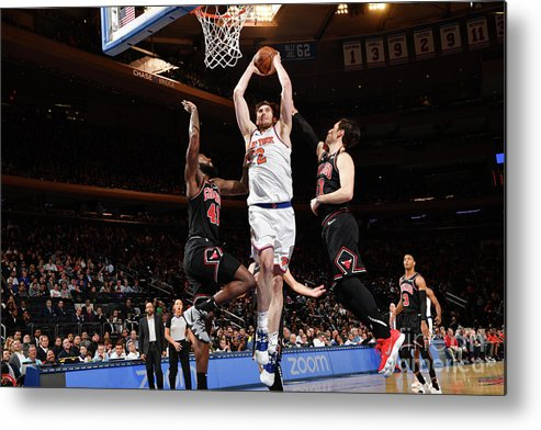 Nba Pro Basketball Metal Print featuring the photograph Chicago Bulls V New York Knicks by Jesse D. Garrabrant
