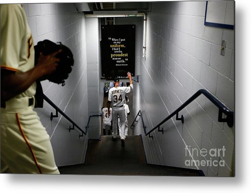 American League Baseball Metal Print featuring the photograph Detroit Tigers V Pittsburgh Pirates by Jared Wickerham