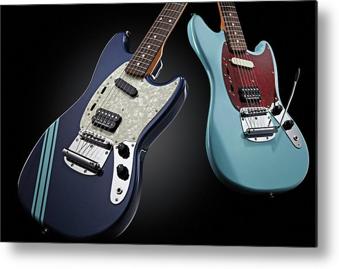 Music Metal Print featuring the photograph Fender Kurt Cobain Mustang Electric by Total Guitar Magazine