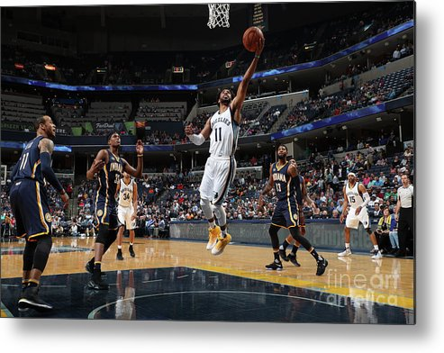 Nba Pro Basketball Metal Print featuring the photograph Indiana Pacers V Memphis Grizzlies by Joe Murphy