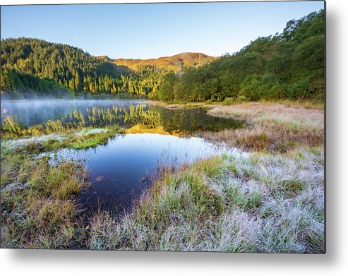 Loch Chon Metal Print featuring the mixed media Loch Chon by Smart Aviation