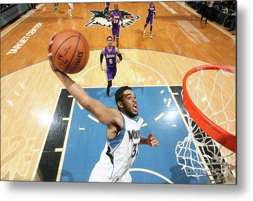 Nba Pro Basketball Metal Print featuring the photograph Los Angeles Lakers V Minnesota by David Sherman