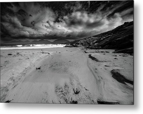 Luskentyre Metal Print featuring the mixed media Luskentyre Beach by Smart Aviation