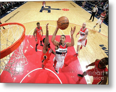 Nba Pro Basketball Metal Print featuring the photograph New Orleans Pelicans V Washington by Ned Dishman
