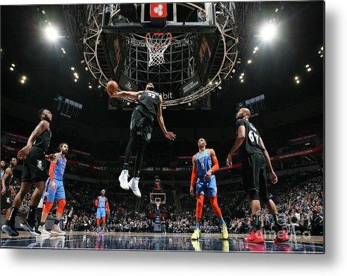 Nba Pro Basketball Metal Print featuring the photograph Oklahoma City Thunder V Minnesota by David Sherman