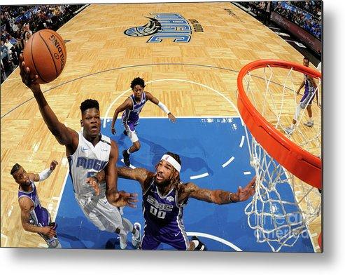 Nba Pro Basketball Metal Print featuring the photograph Sacramento Kings V Orlando Magic by Fernando Medina