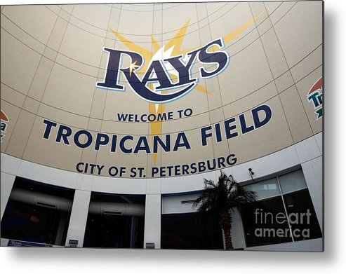 American League Baseball Metal Print featuring the photograph Seattle Mariners V Tampa Bay Rays by J. Meric