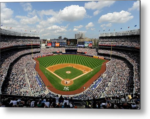 American League Baseball Metal Print featuring the photograph Tampa Bay Rays V New York Yankees by Rob Tringali/sportschrome