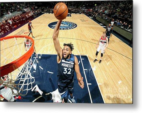 Nba Pro Basketball Metal Print featuring the photograph Washington Wizards V Minnesota by David Sherman