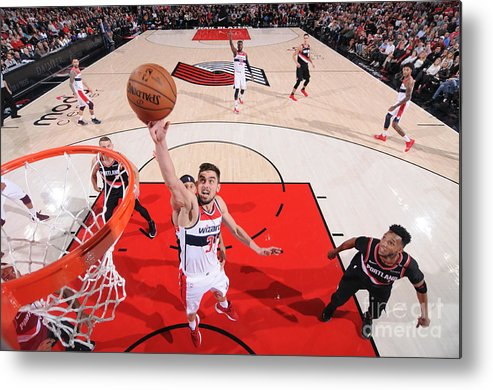 Nba Pro Basketball Metal Print featuring the photograph Washington Wizards V Portland Trail by Sam Forencich