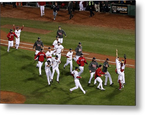 St. Louis Cardinals Metal Print featuring the photograph World Series - St Louis Cardinals V by Alex Trautwig