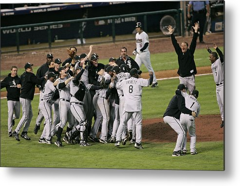 People Metal Print featuring the photograph 2005 World Series - Chicago White Sox by G. N. Lowrance