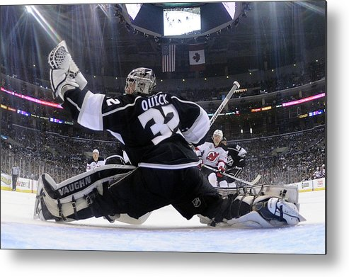 Playoffs Metal Print featuring the photograph 2012 Nhl Stanley Cup Final – Game Four by Harry How