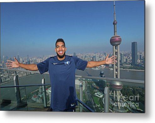Event Metal Print featuring the photograph 2017 Nba Global Games - China by Joe Murphy