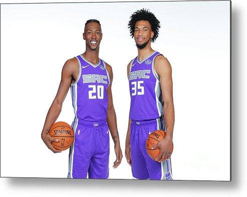 Media Day Metal Print featuring the photograph 2018-19 Sacramento Kings Media Day by Rocky Widner