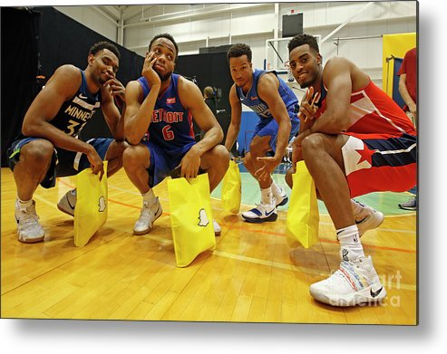Nba Pro Basketball Metal Print featuring the photograph 2018 Nba Rookie Photo Shoot by Michelle Farsi
