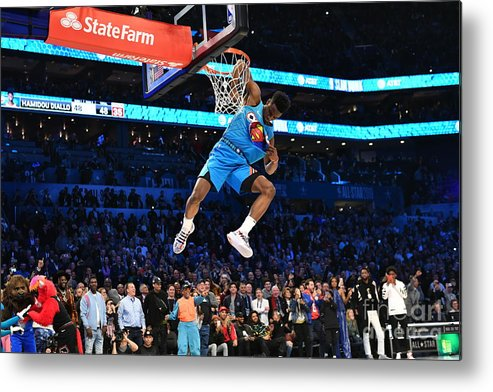 Nba Pro Basketball Metal Print featuring the photograph 2019 At&t Slam Dunk by Jesse D. Garrabrant