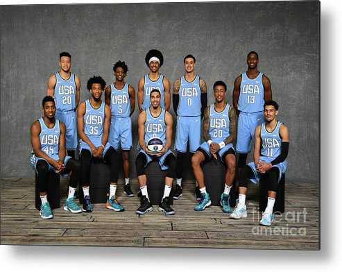 Nba Pro Basketball Metal Print featuring the photograph 2019 Mtn Dew Ice Rising Stars by Jesse D. Garrabrant