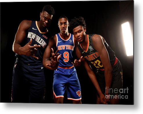 Nba Pro Basketball Metal Print featuring the photograph 2019 Nba Rookie Photo Shoot by Brian Babineau