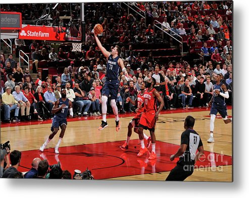 Nba Pro Basketball Metal Print featuring the photograph Dallas Mavericks V Houston Rockets by Bill Baptist