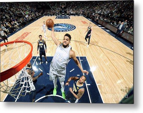 Nba Pro Basketball Metal Print featuring the photograph Denver Nuggets V Minnesota Timberwolves by David Sherman