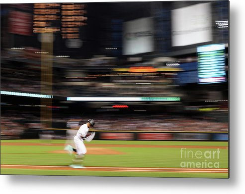 American League Baseball Metal Print featuring the photograph San Diego Padres V Arizona Diamondbacks by Christian Petersen