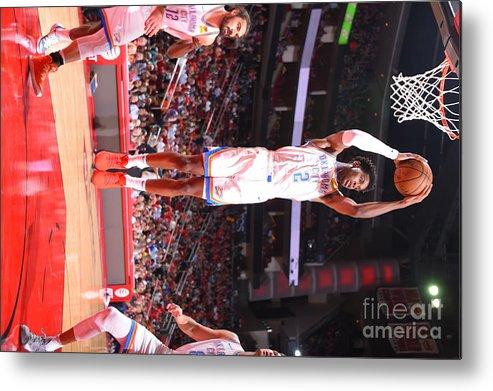 Nba Pro Basketball Metal Print featuring the photograph Oklahoma City Thunder V Houston Rockets by Bill Baptist