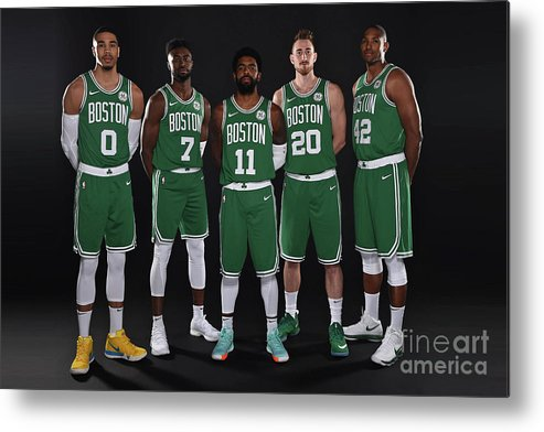 Media Day Metal Print featuring the photograph 2018-19 Boston Celtics Media Day by Brian Babineau