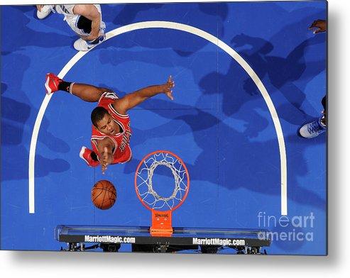 Nba Pro Basketball Metal Print featuring the photograph Chicago Bulls V Orlando Magic by Fernando Medina