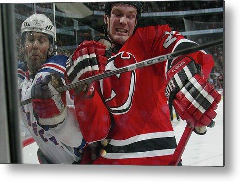 David Clarkson Metal Print featuring the photograph New York Rangers V New Jersey Devils by Bruce Bennett