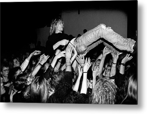 Singer Metal Print featuring the photograph Nirvana Perform Live In Frankfurt by Paul Bergen