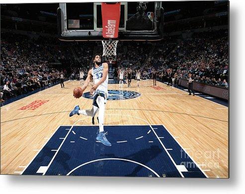 Nba Pro Basketball Metal Print featuring the photograph Sacramento Kings V Minnesota by David Sherman