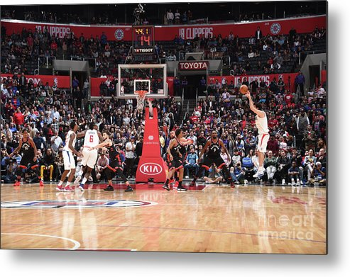 Nba Pro Basketball Metal Print featuring the photograph Toronto Raptors V La Clippers by Andrew D. Bernstein