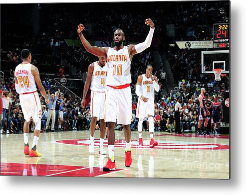Atlanta Metal Print featuring the photograph Washington Wizards V Atlanta Hawks - by Scott Cunningham