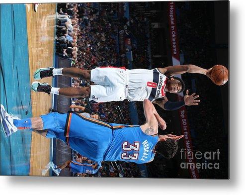 Nba Pro Basketball Metal Print featuring the photograph Washington Wizards V Oklahoma City by Zach Beeker