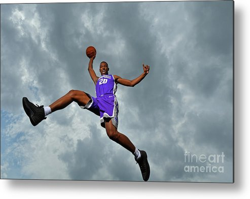 Nba Pro Basketball Metal Print featuring the photograph 2017 Nba Rookie Photo Shoot by Jesse D. Garrabrant