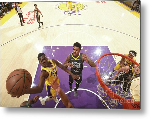 Nba Pro Basketball Metal Print featuring the photograph Golden State Warriors V Los Angeles by Andrew D. Bernstein