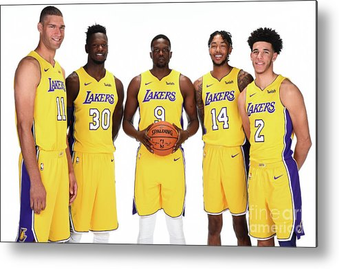 Media Day Metal Print featuring the photograph 2017-18 Los Angeles Lakers Media Day by Andrew D. Bernstein