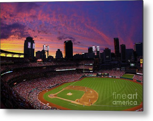 St. Louis Metal Print featuring the photograph Arizona Diamondbacks V St. Louis by Dilip Vishwanat