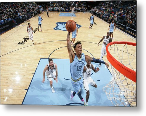 Nba Pro Basketball Metal Print featuring the photograph Brooklyn Nets V Memphis Grizzlies by Joe Murphy