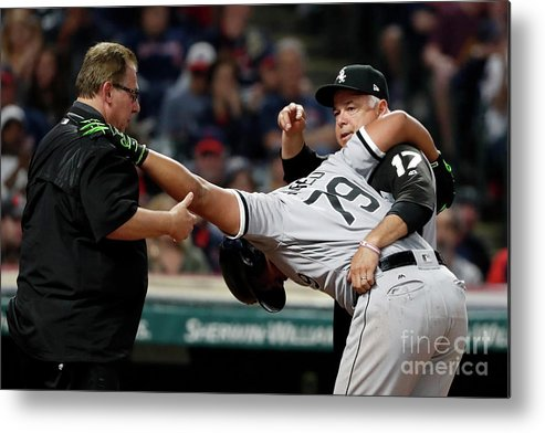 Three Quarter Length Metal Print featuring the photograph Chicago White Sox V Cleveland Indians by Justin K. Aller