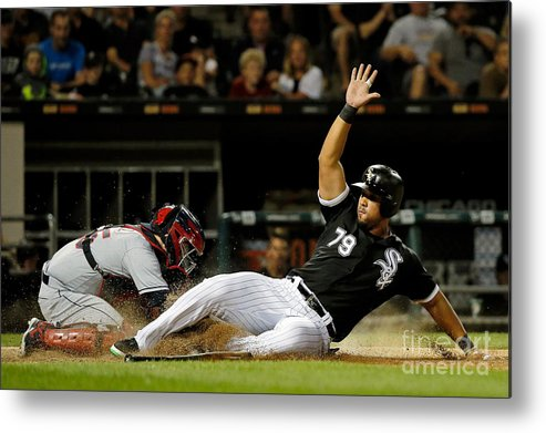 People Metal Print featuring the photograph Cleveland Indians V Chicago White Sox by Jon Durr