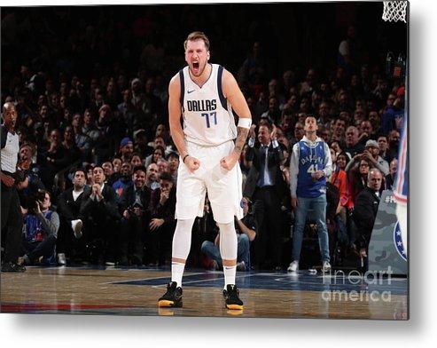 Nba Pro Basketball Metal Print featuring the photograph Dallas Mavericks V New York Knicks by Nathaniel S. Butler